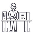system administrator line icon sign vector image vector image