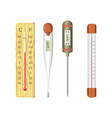 thermometers for human body and air temperature vector image