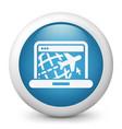 travel web agency icon vector image vector image