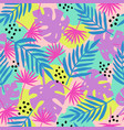 trendy tropical leaves seamless pattern vector image vector image