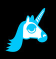 unicorn head isolated fabulous beast in horn vector image vector image