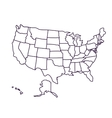 Usa map isolated icon design vector image