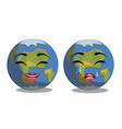 ute earth planet in different emotions vector image vector image