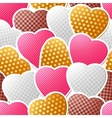 Valentine seamless pattern of heart stickers vector image vector image