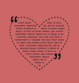 vintage heart sticker with text with isolated fray vector image vector image