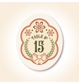 vintage wedding badge table number vector image vector image