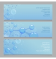 Molecular structure l banners with atom and vector image