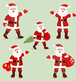 Collection of cute Santa Clauses for your design vector image