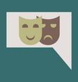 flat icon film mask vector image