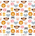 animal emotion avatar icons vector image
