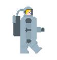 astronaut pixel art cosmonaut 8 bit spaceman vector image vector image
