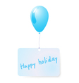 balloon with holiday tag vector image vector image