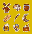 barley icon set hand drawn style vector image