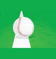 baseball ball on line vector image vector image