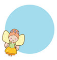 beautiful little flying fairy character blue vector image