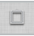 Blank square picture frame on a gray wall with vector image vector image