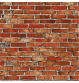 Brick wall red relief texture with shadow vector image
