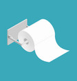 bumf on holder roll of toilet paper bumph isolated vector image vector image