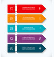 business infographic arrow template with 5 options vector image