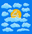 cartoon clouds and sun vector image vector image
