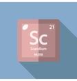 Chemical element Scandium Flat vector image vector image