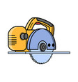 circular saw construction electric tool vector image