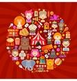 circus logo design template fun fair vector image vector image