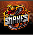 cobra esport mascot logo design vector image vector image
