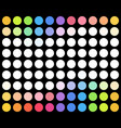 colored dotted background over black background vector image vector image