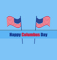 Columbus day the discoverer of america usa flag