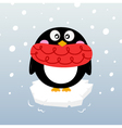 Cute winter penguin on sparkling iceberg vector image vector image