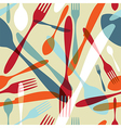 Cutlery transparent silhouette pattern background vector image vector image
