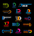 d creative modern trend icons corporate identity vector image