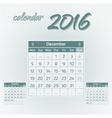 December 2016 vector image vector image