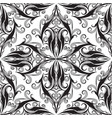 elegance damask seamless pattern black and white vector image vector image