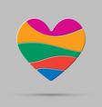 element color heart pieces puzzle symbol love vector image vector image