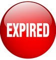expired red round gel isolated push button vector image vector image