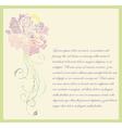 Floral hand drawn card vector image vector image