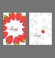 fresh berry cover vector image vector image