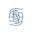 global energy saving technologies line icon vector image vector image
