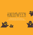 halloween with ghost on yellow background vector image vector image