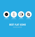 icon flat component set of speedometer brake disk vector image vector image