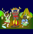 indian tribe in the form of three children vector image vector image