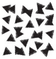 infinite art with triangles vector image vector image