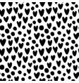 ink hand drawn hearts and circles seamless pattern vector image vector image
