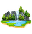 isolated waterfall in nature vector image vector image