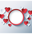Love background Valentines day frame 3d heart