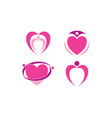 love logo template vector image vector image