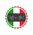 made in italy symbol italian sticker vector image vector image