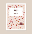 modern wedding save date greeting card vector image